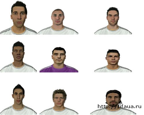 Fifa 14 Face Pack Real Madrid By Mohamad