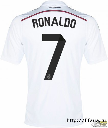 Real Madrid Official Fonts+Kitnumbers 2014-15