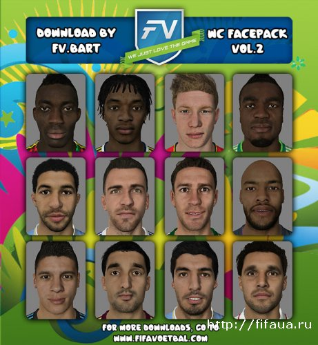 "FIFA 14 ""World Cup Facepack vol.2 by FV.Bart"""