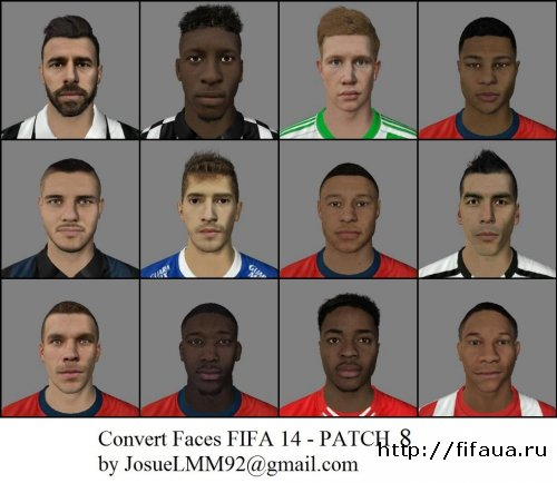 FIFA 14 14 PATCH CONVERT FACES 8 - FIFA 14