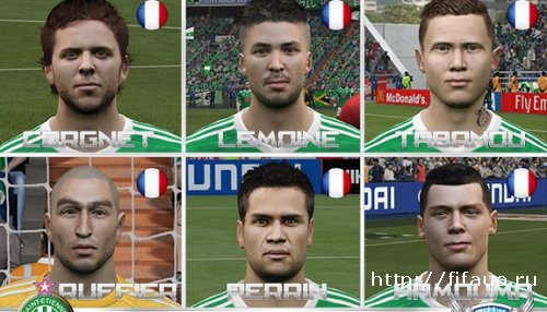 FIFA 15 AS Saint Etienne Facepack by Ily94 vol.1