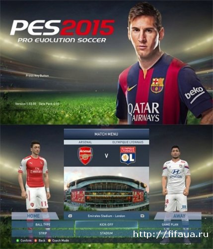 FIFA 15 graphic adapted for PES 2015