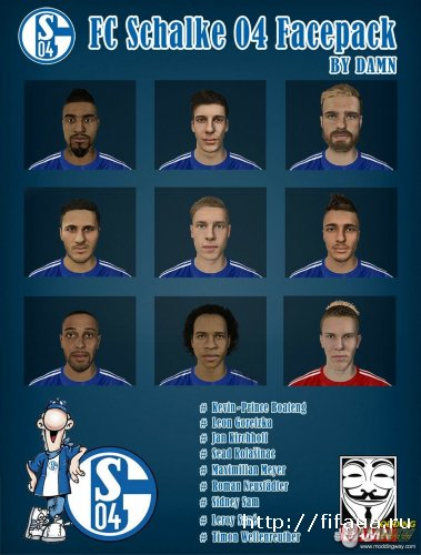FIFA 15 Schalke 04 Faces Pack