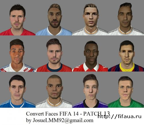FIFA 14 Patch Convert Faces 13 - FIFA 14 - Link Fixed