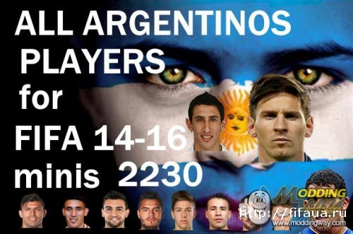 All minifaces Argentina players in the game