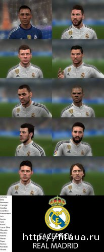 FIFA 2014 Facepack Real Madrid - Faces FIFA 16 TO 14
