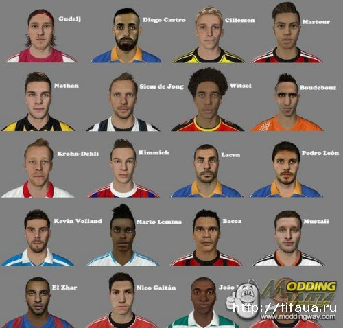 Converted Faces Pack FIFA 14 - Vol 8