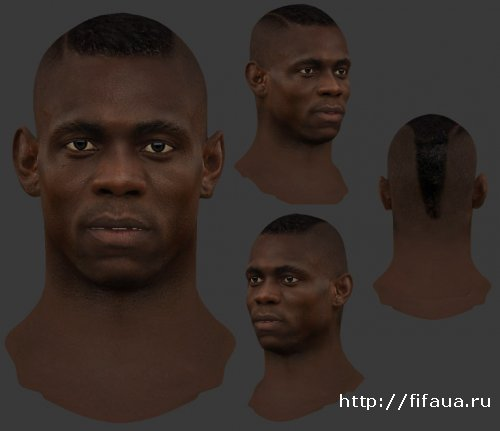 FIFA 14 Balotelli Mario face by habib10