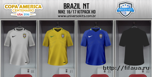 BRAZIL NT NIKE COPA AMERICA 2016 KITS HD by Mateus Guedes