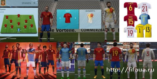 FIFA 16 UEFA EURO 2016 SPAIN Kitpack by Ron69