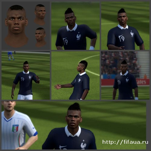 FIFA 14 Pogba Paul fifa16 face by habib10
