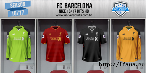 FIFA 16 LIVERPOOL FC NEW BALANCE 16/17 KITS HD by Mateus Guedes