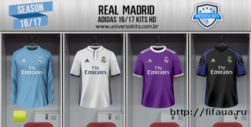 FIFA 16 REAL MADRID 16/17 FULL KITPACK HD