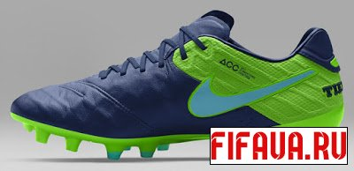 FIFA 14 Nike Tiempo Legend VI - Coastal Blue Rage Green