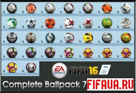 FIFA 16 Complete Ballpack 7.0 by Ron69
