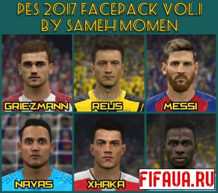 PES 2017 Face Pack vol. 1