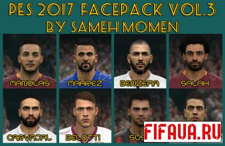 PES 2017 facepack vol.3 от Sameh Momen
