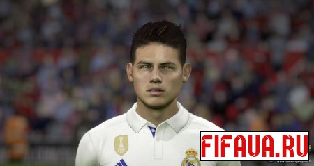 James Rodríguez face - 17 to 15 conversion