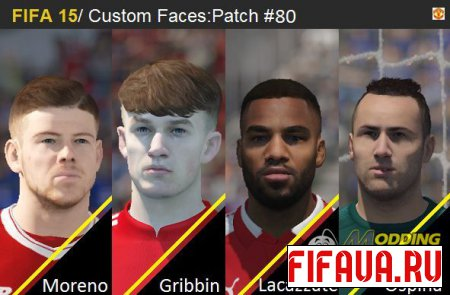 FIFA 15  Faces  FacePack(80) -18 to 15
