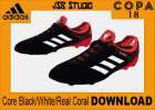 FIFA v2016 adidas Copa 18.1 'Cold Blooded' Core Black/White/Real Coral