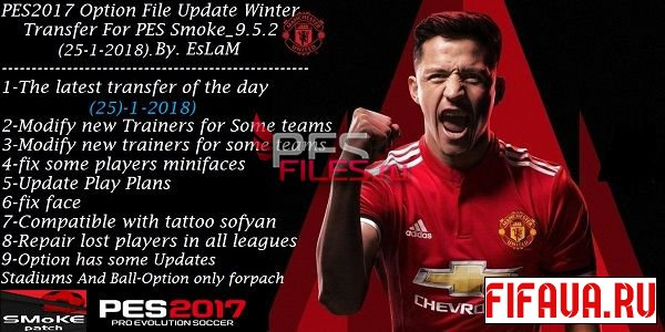 Option File Update Winter Transfer For PES Smoke_9.5.2