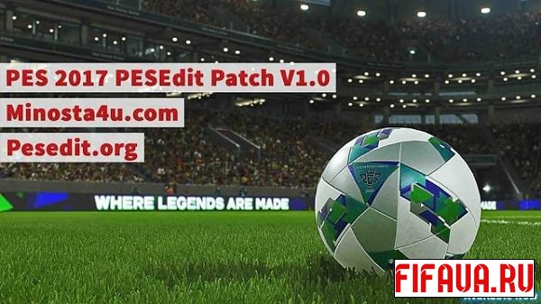 PES 2017 PESEdit V1.0 PATCH 2018/19 AIO