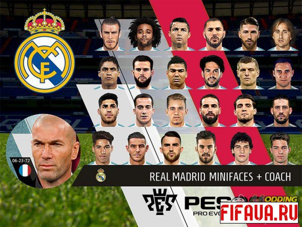 PES 18 Real Madrid Mini Faces + Coach PC by rkh257