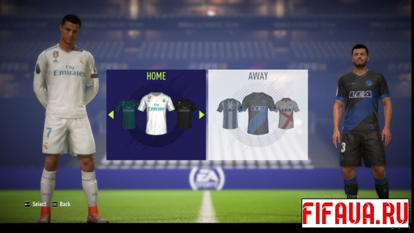 FIFA 18 Real Madrid CL Kits