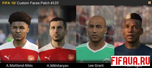 FIFA 15 FacePack(120) -19 to 15 conversion