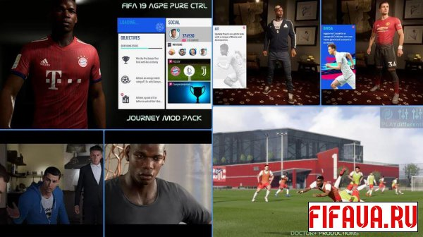 FIFA 19 EXCLUSIVE JOURNEY REAL HERO MOD